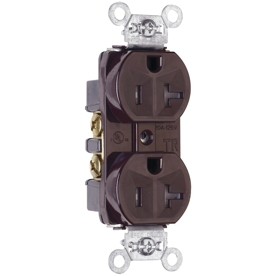 Legrand 20-Amp 125-Volt Brown Indoor Duplex Wall Tamper Resistant Outlet