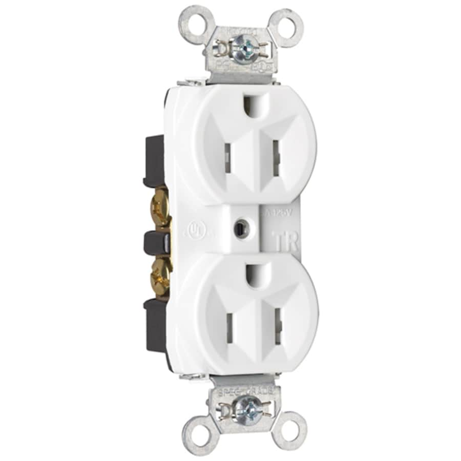 Pass & Seymour/Legrand 15-Amp 125-Volt White Indoor Duplex Wall Tamper Resistant Outlet