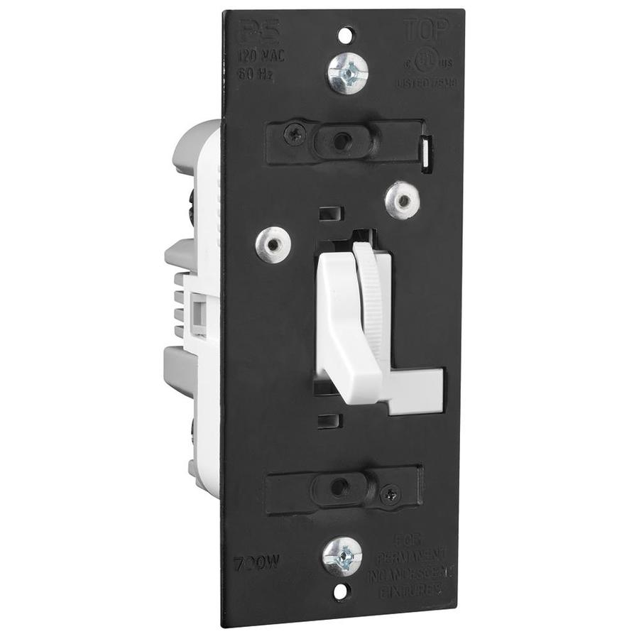Shop Legrand 700-watt Single Pole 3-way White Toggle Dimmer at Lowes.com