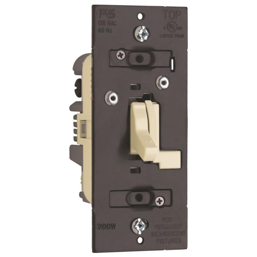 Shop Legrand 600 Watt Single Pole 3 Way Light Almond Dimmer At Wiring A Switch