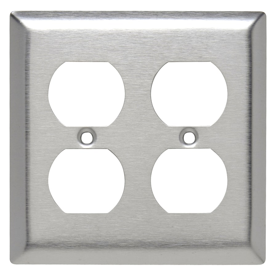 Legrand 2-Gang Stainless Steel Double Duplex Wall Plate