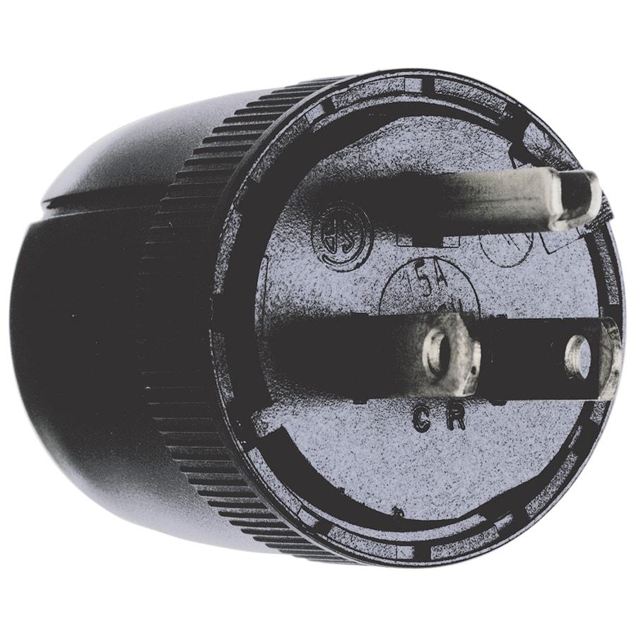 Legrand 15-Amp 125-Volt Black 3-wire Grounding Plug