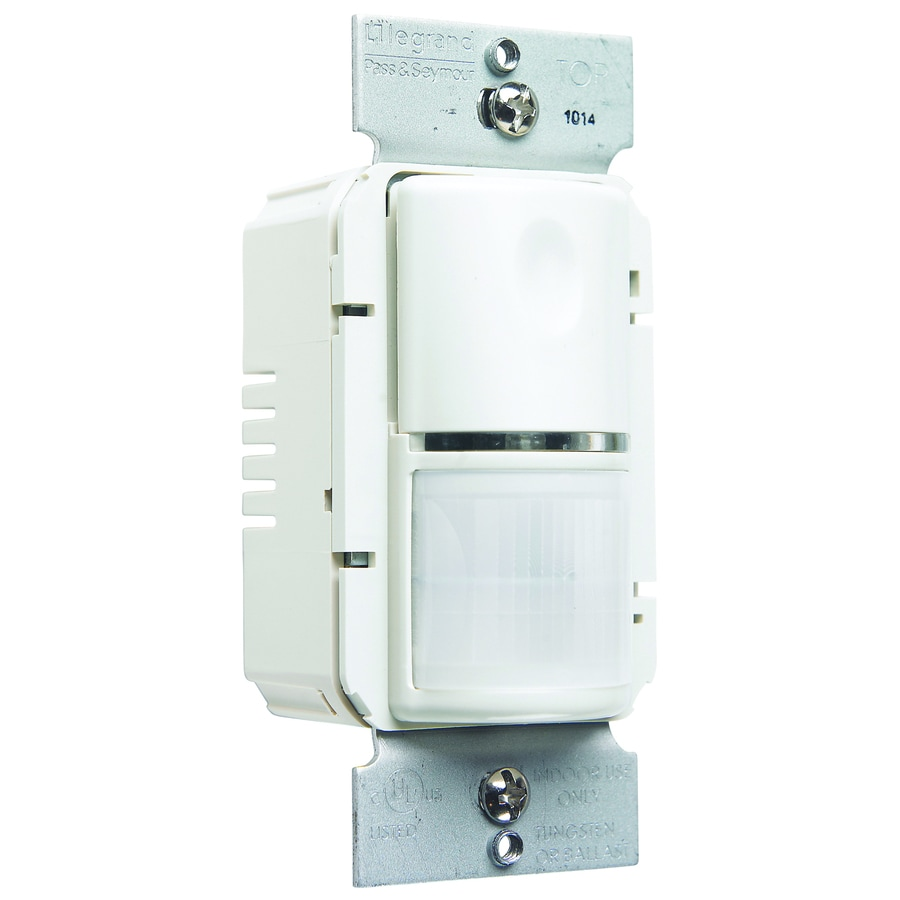 Legrand 800-Watt Single Pole White Indoor Motion Vacancy Sensor