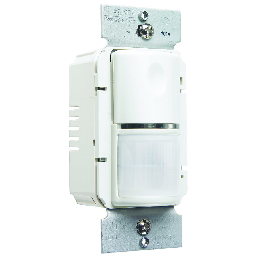 Legrand 1-Switch 800-Watt Single Pole White Indoor Motion Vacancy Sensor