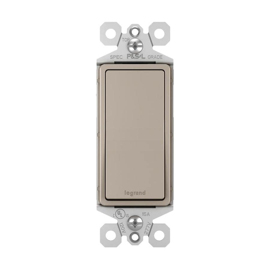 Legrand radiant  15-Amp 3-way Nickel Rocker Indoor Light Switch