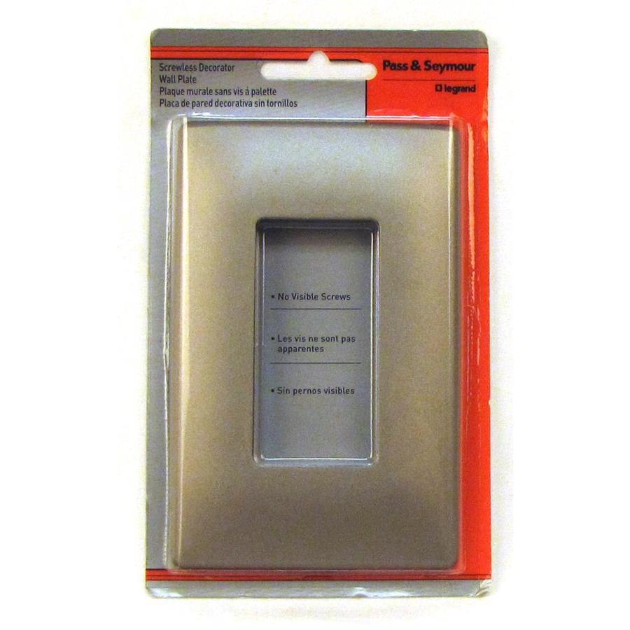 Pass & Seymour/Legrand 1-Gang Nickel Decorator Wall Plate