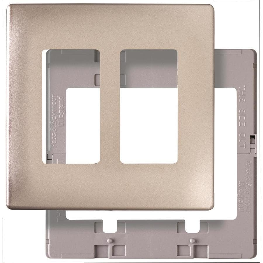 Pass & Seymour/Legrand 2-Gang Nickel Decorator Wall Plate