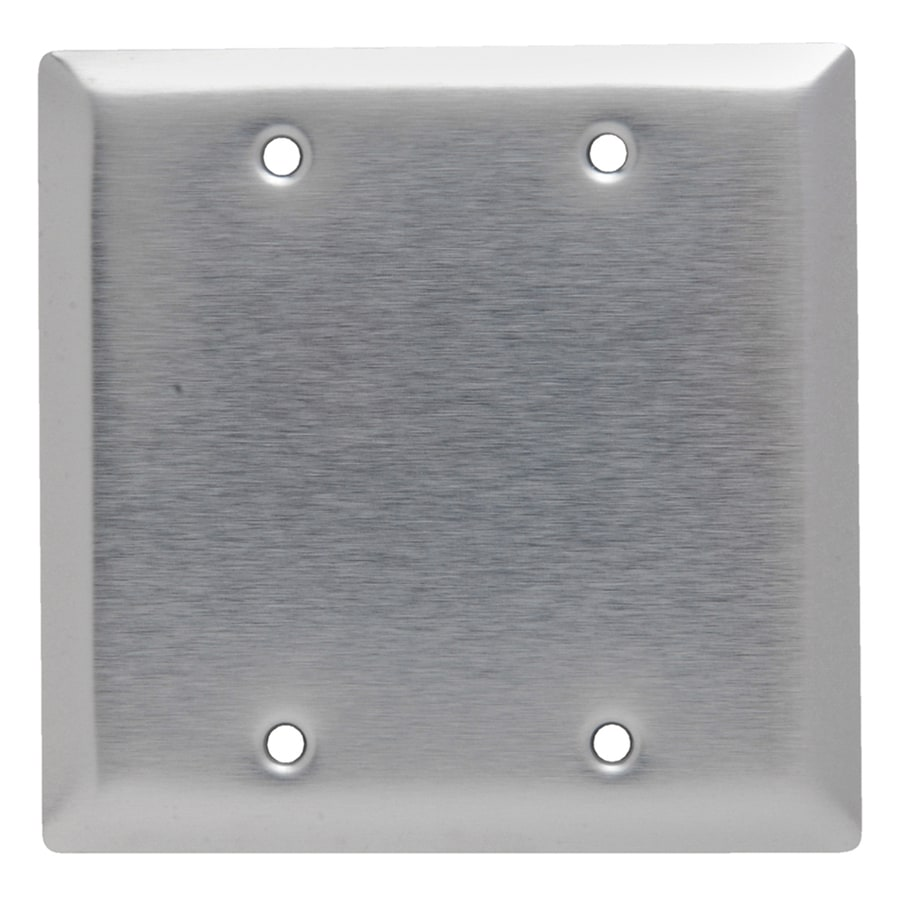 Legrand 2-Gang Stainless Steel Double Blank Wall Plate