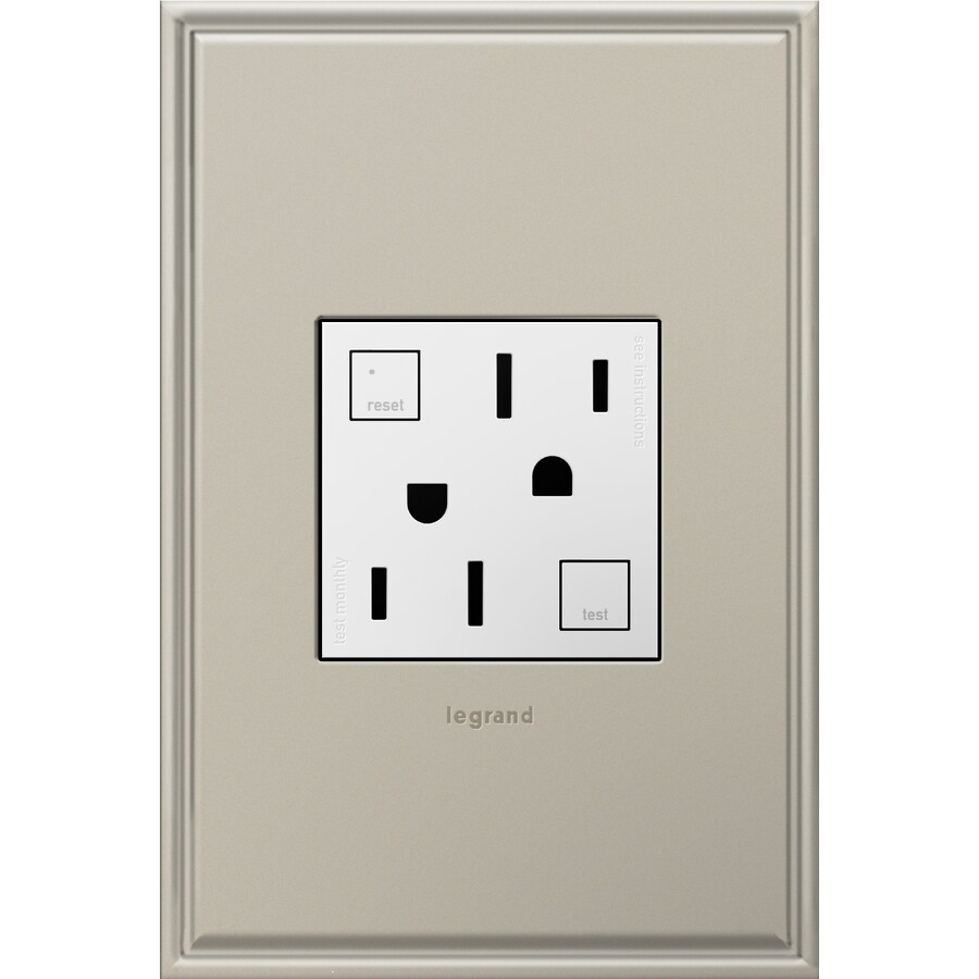 Pass & Seymour/Legrand adorne 20-Amp 125-volt White Indoor Gfci Square Wall Tamper Resistant Outlet