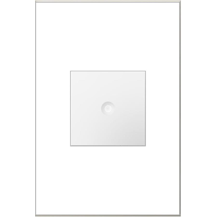 Legrand Adorne Push 15-amp Single Pole 3-way White Push Indoor Light Switch