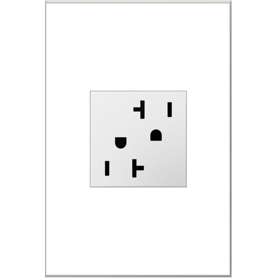 Pass & Seymour/Legrand adorne 20-Amp 125-Volt White Duplex Tamper Resistant Electrical Outlet