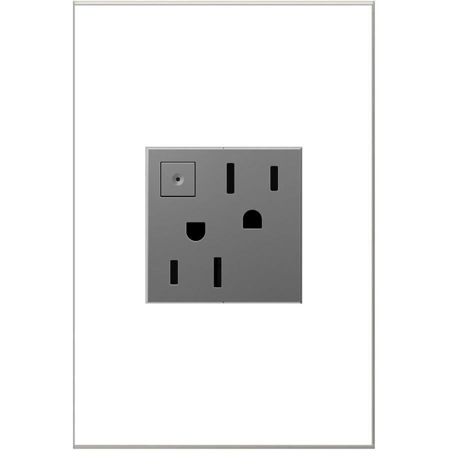 Legrand adorne 15-Amp 125-Volt Magnesium Duplex Tamper Resistant Electrical Outlet