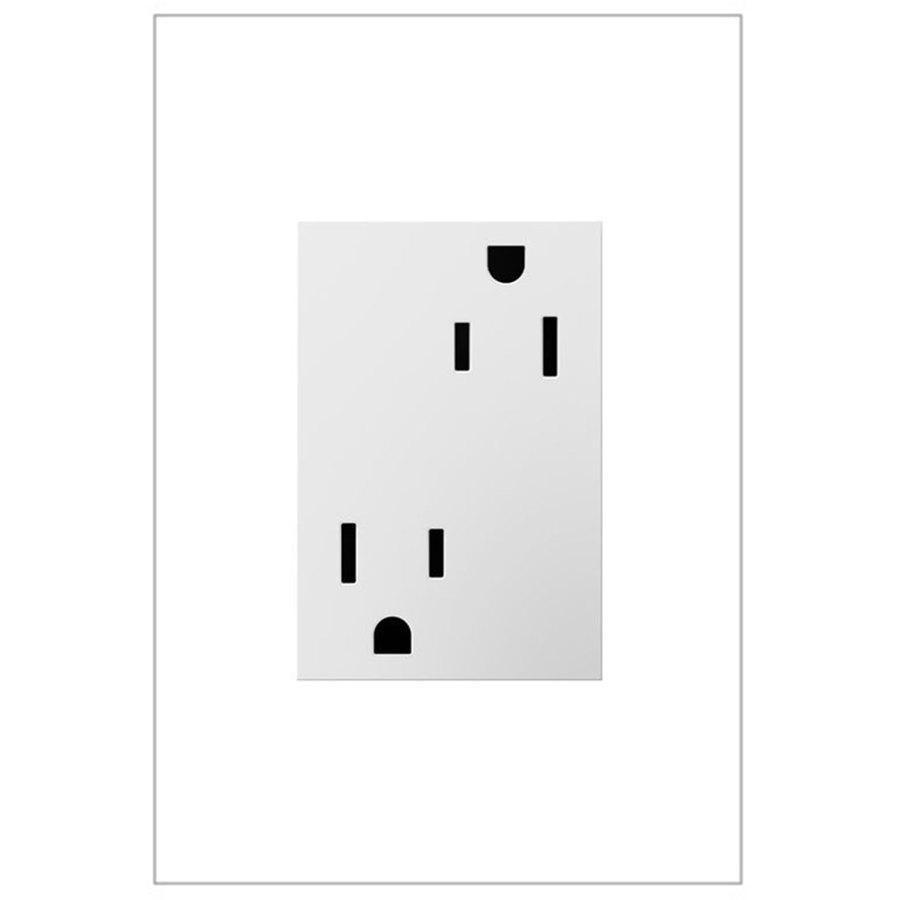 Legrand adorne 15-Amp 125-Volt White Duplex Tamper Resistant Electrical Outlet