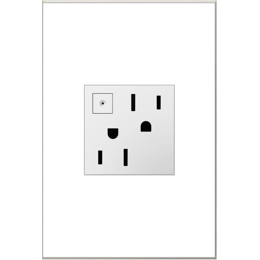 Legrand adorne 15-Amp 125-Volt White Indoor Duplex Wall Tamper Resistant Outlet