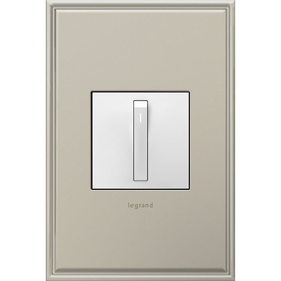 Legrand 15-Amp adorne Whisper White 3-Way Square Light Switch