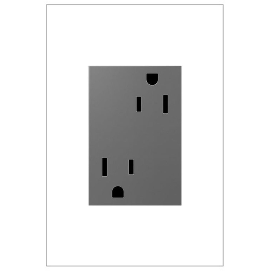 Pass & Seymour/Legrand adorne 15-Amp 125-Volt Magnesium Indoor Duplex Wall Tamper Resistant Outlet