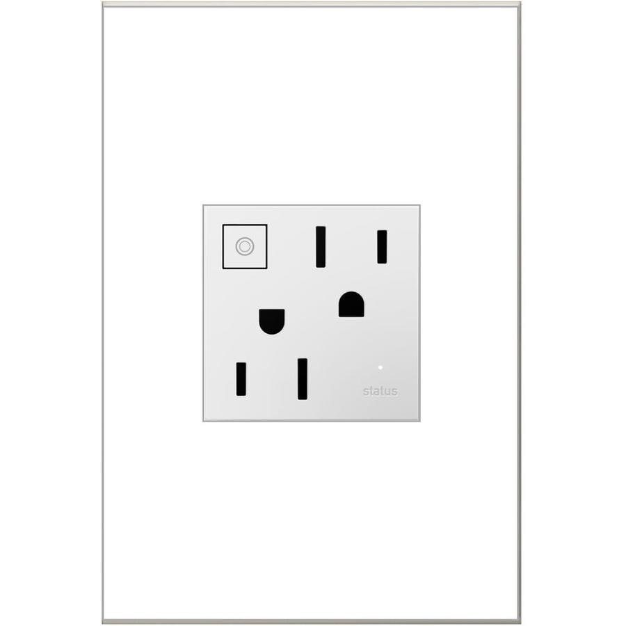 Pass & Seymour/Legrand Adorne 15-Amp 125-Volt White Indoor Duplex Wall Tamper Resistant Outlet