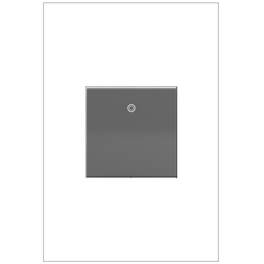 Legrand adorne Paddle 1-Switch 15-Amp Single Pole 3-Way Magnesium Indoor Rocker Light Switch