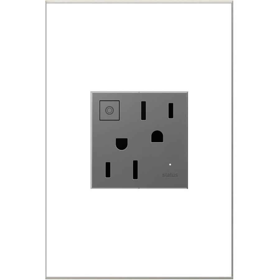 Pass & Seymour/Legrand adorne 15-Amp 125-Volt Magnesium Duplex Tamper Resistant Electrical Outlet