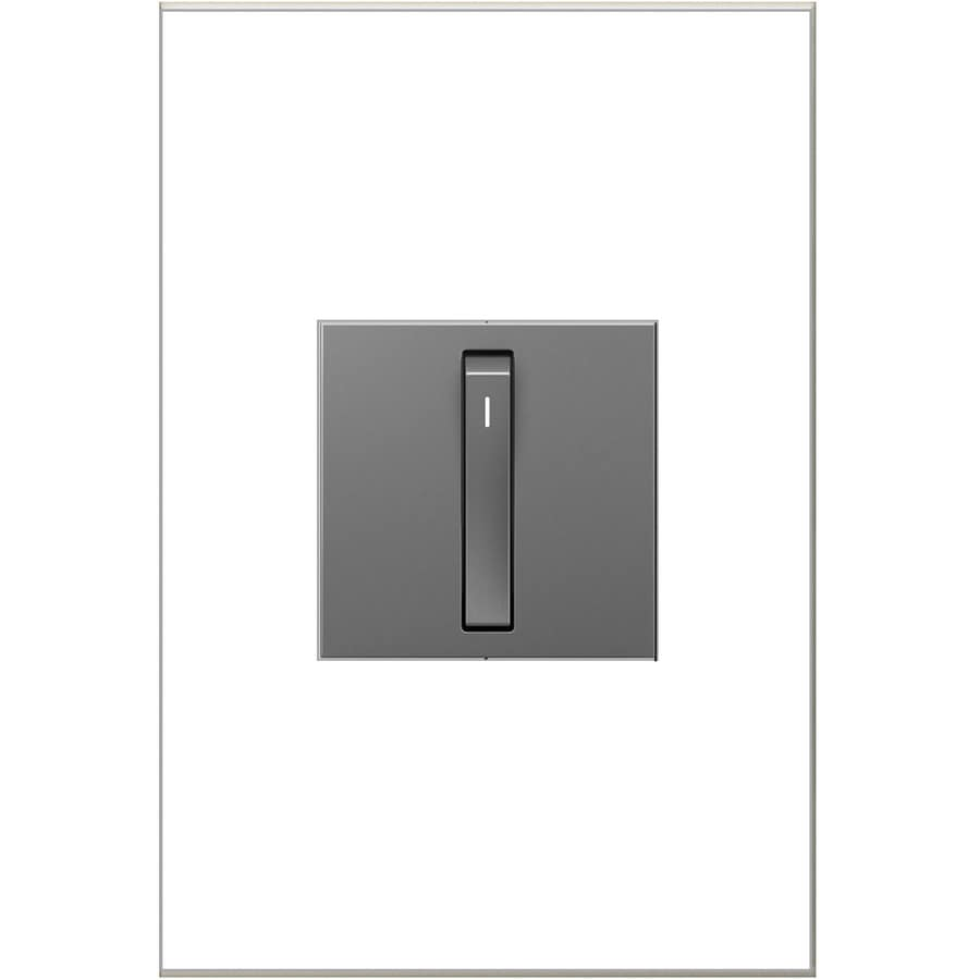 Legrand adorne Whisper 1-Switch 15-Amp Single Pole 3-Way Magnesium Indoor Rocker Light Switch