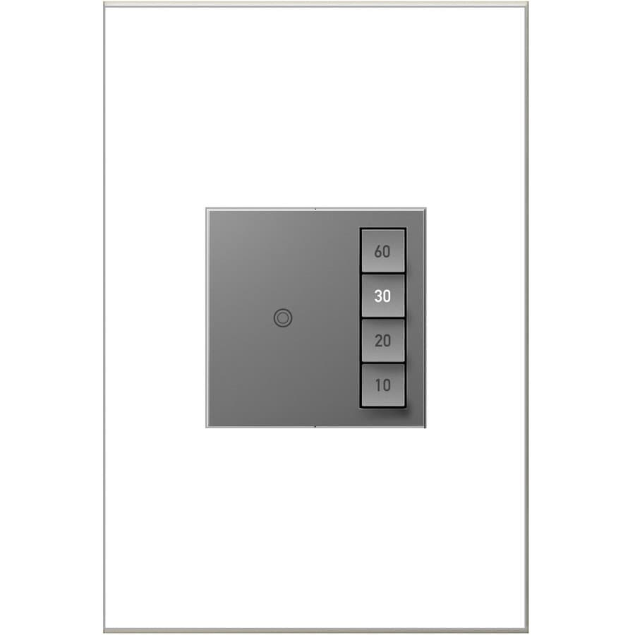 Legrand Adorne SensaSwitch 600-watt Single Pole 3-way Magnesium Momentary Indoor Light Switch