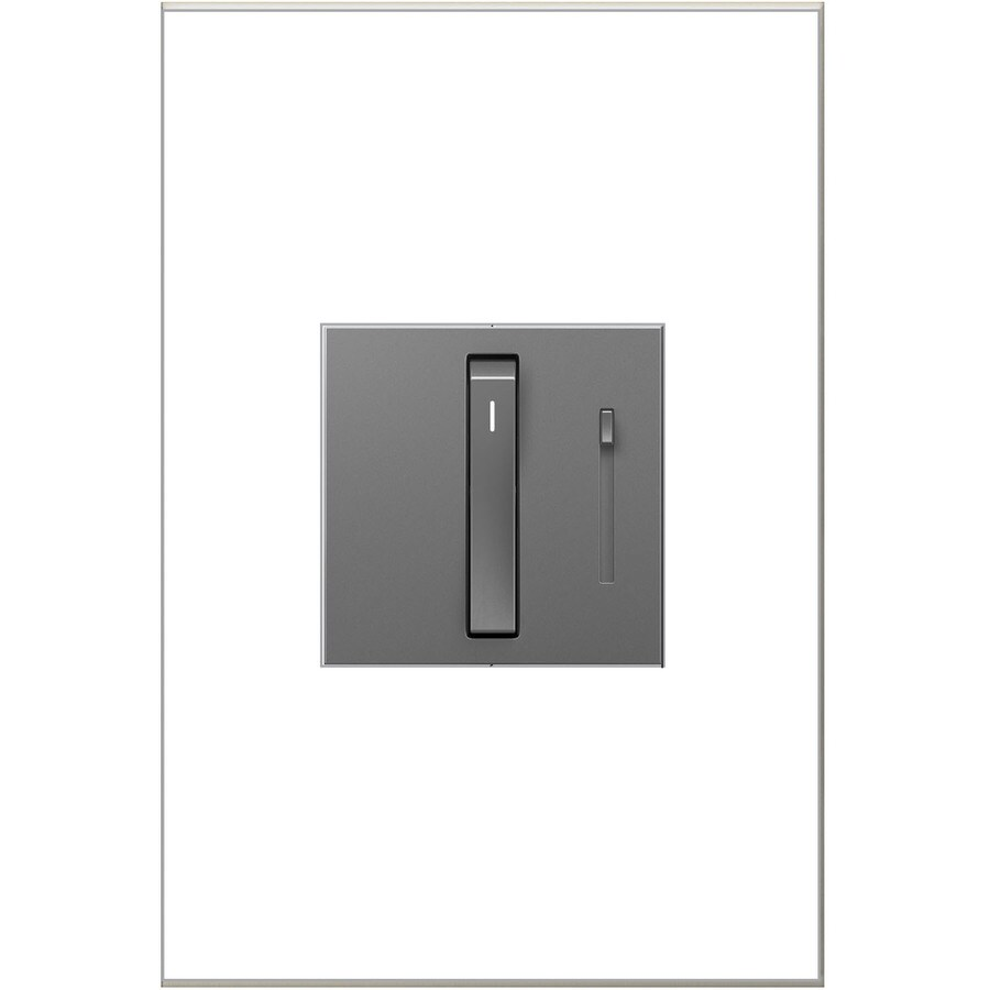 Legrand adorne Whisper 15/20-Amp Single Pole 3-way Magnesium Touch Indoor Dimmer