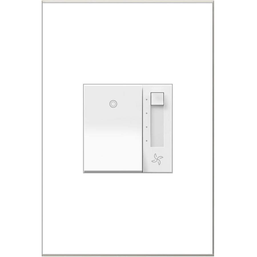 Legrand Adorne Fully Variable 15-Amp White Indoor Slide Fan Control