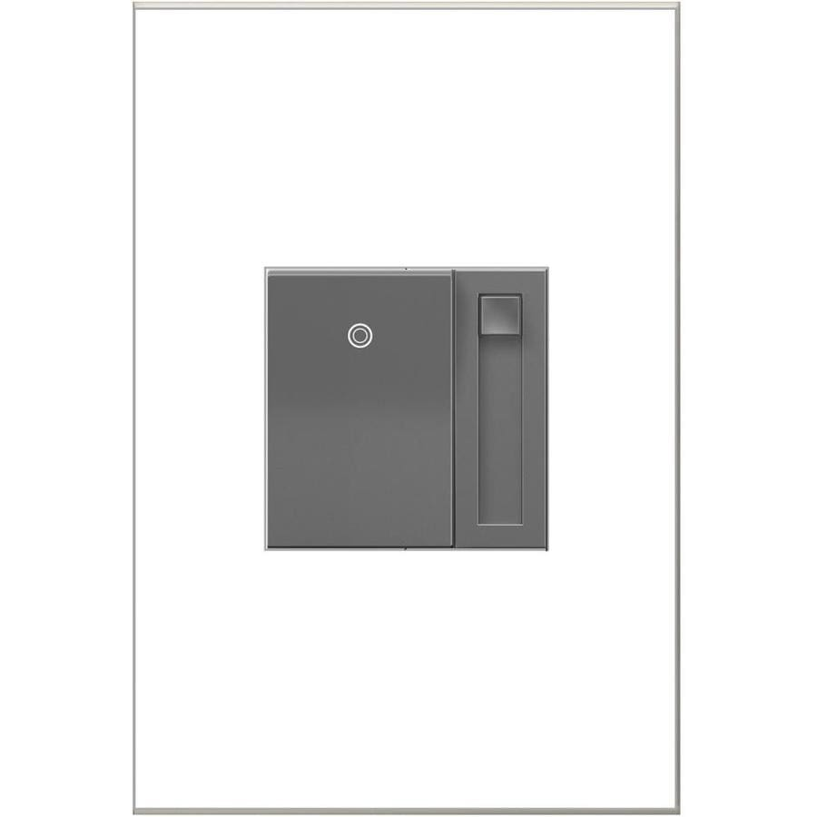 Legrand adorne Paddle 450-Watt Single Pole 3-Way Magnesium Indoor Slide Dimmer