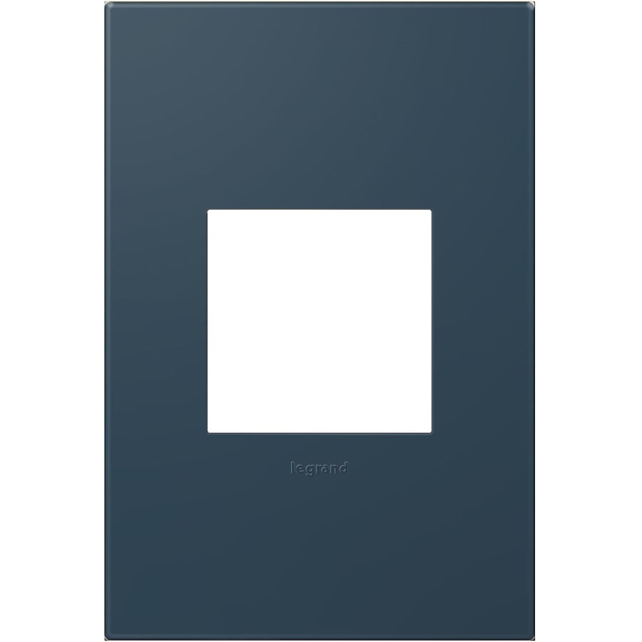 Legrand adorne 1-Gang Soft Touch Felt Green Single Square Wall Plate