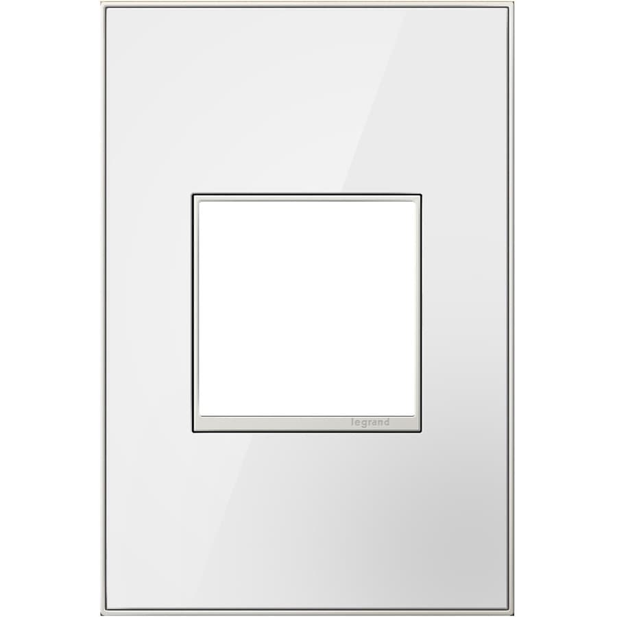 Legrand adorne 1-Gang Mirror White Single Square Wall Plate