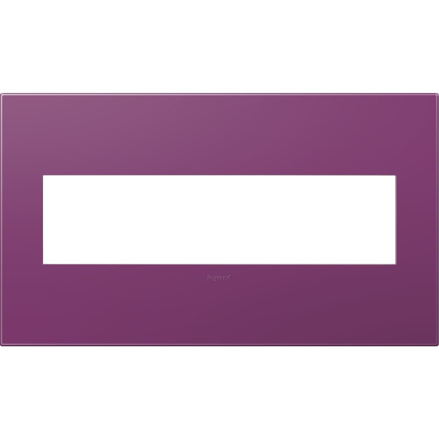 Legrand adorne 4-Gang Plum Quad Square Wall Plate