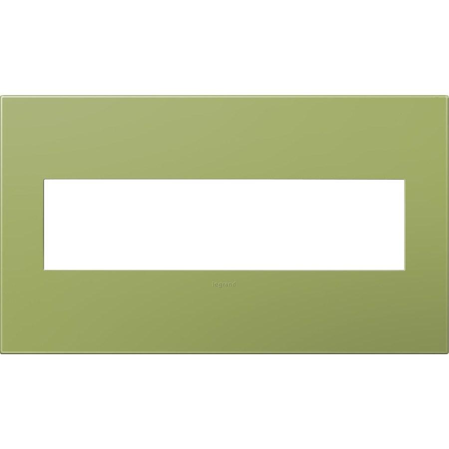 Legrand adorne 4-Gang Lichen Green Quad Square Wall Plate