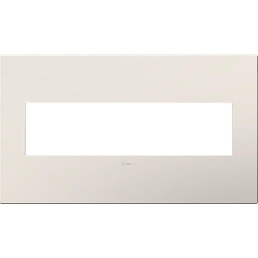 Legrand adorne 4-Gang Light Almond Quad Square Wall Plate