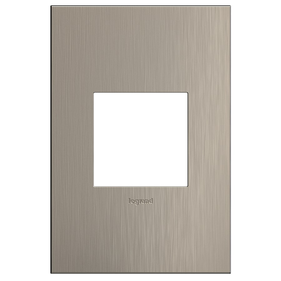 Legrand Adorne 1-Gang Satin Nickel Single Square Wall Plate
