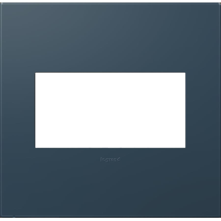 Legrand adorne 2-Gang Soft Touch Felt Green Double Square Wall Plate