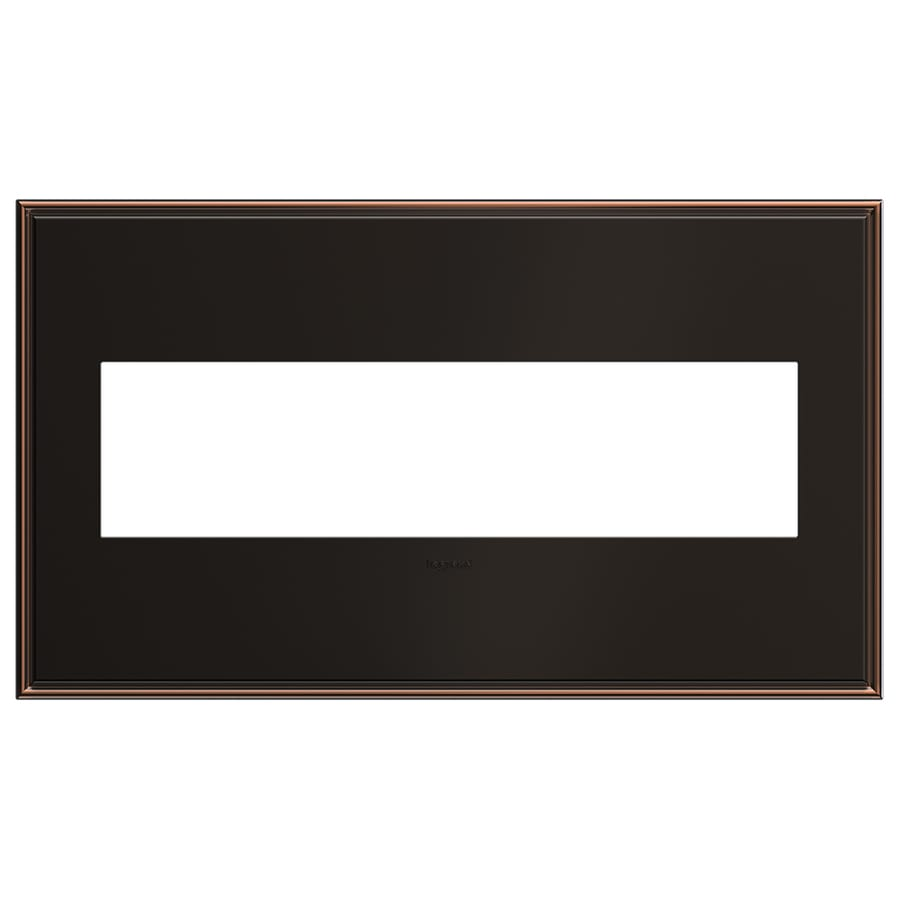 Legrand adorne 4-Gang Oil-Rubbed Bronze Quad Square Wall Plate