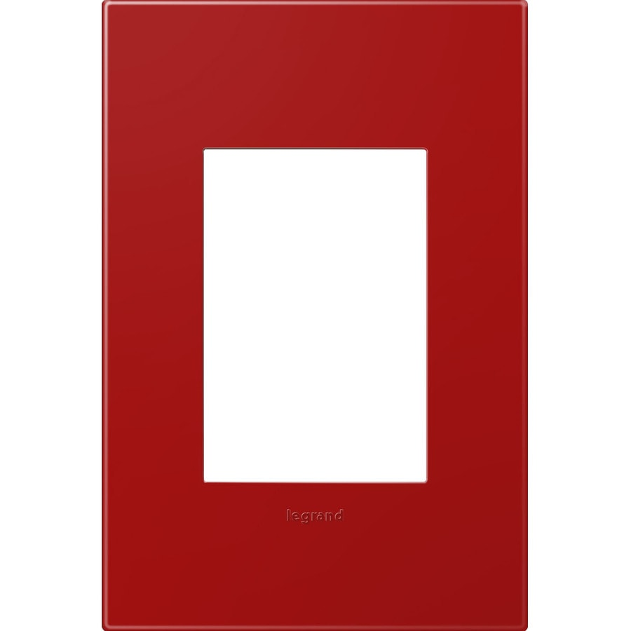Legrand adorne 1-Gang Cherry Single Square Wall Plate