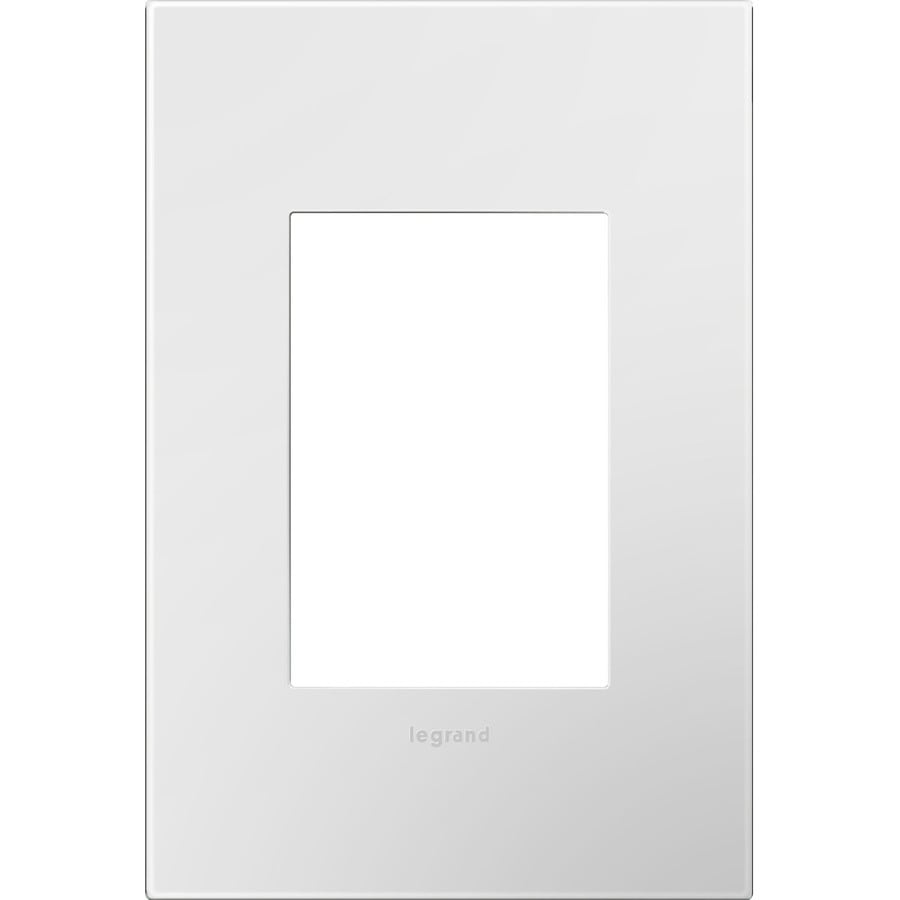 Legrand adorne 1-Gang Gloss White Single Square Wall Plate