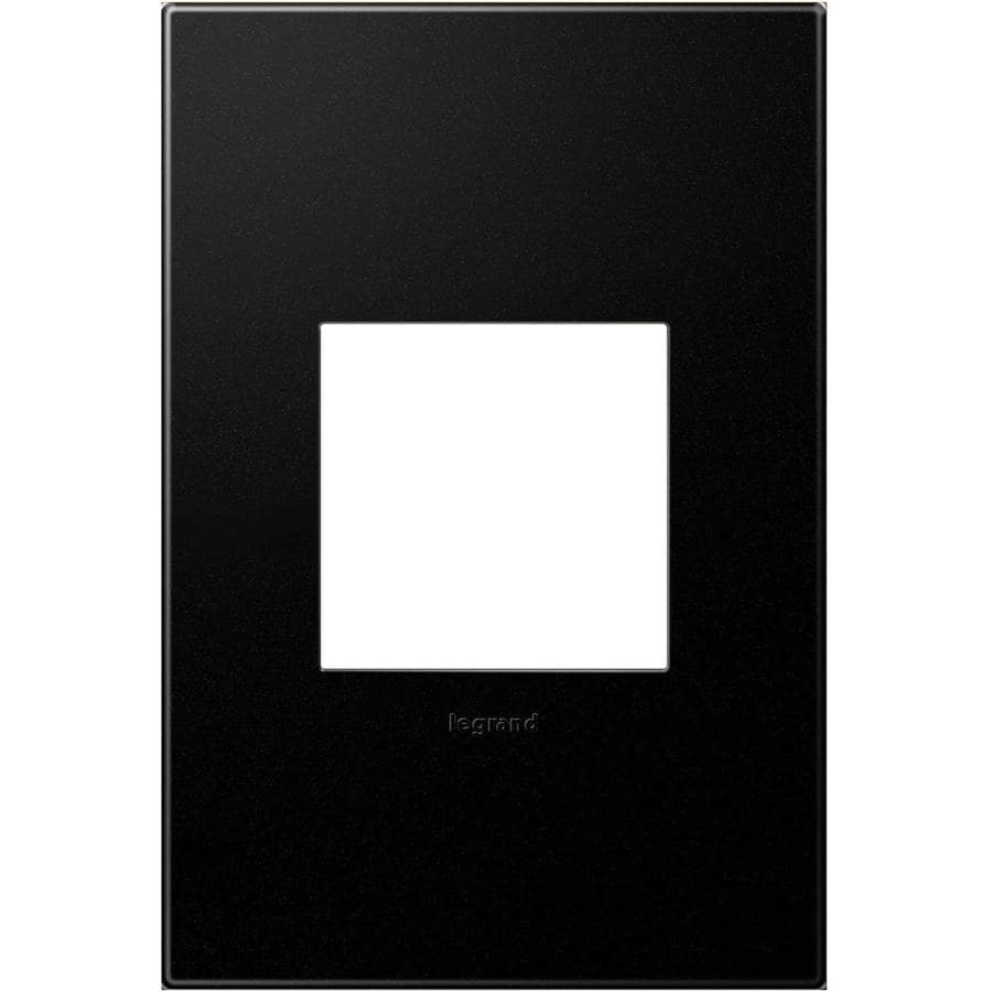 Legrand adorne 1-Gang Graphite Single Square Wall Plate