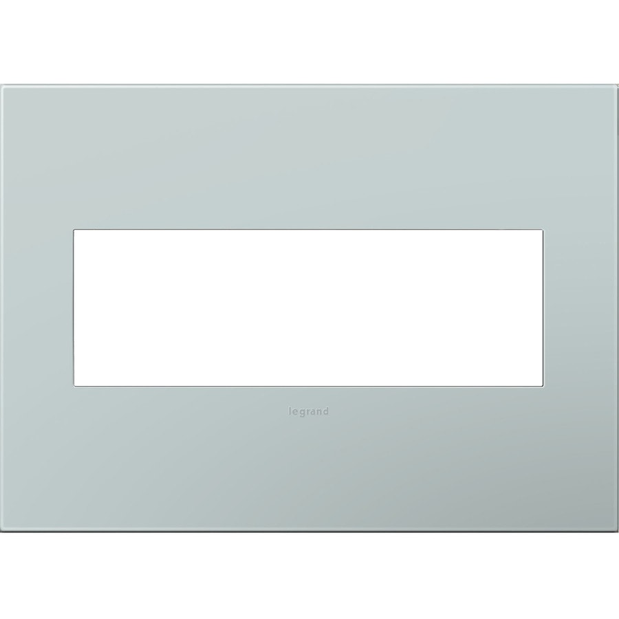 Legrand adorne 3-Gang Pale Blue Triple Square Wall Plate