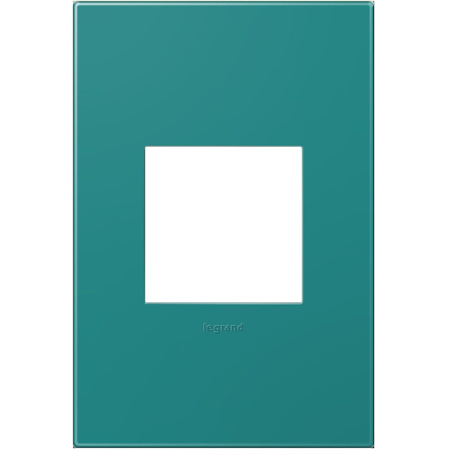 Legrand adorne 1-Gang Turquoise Blue Single Square Wall Plate