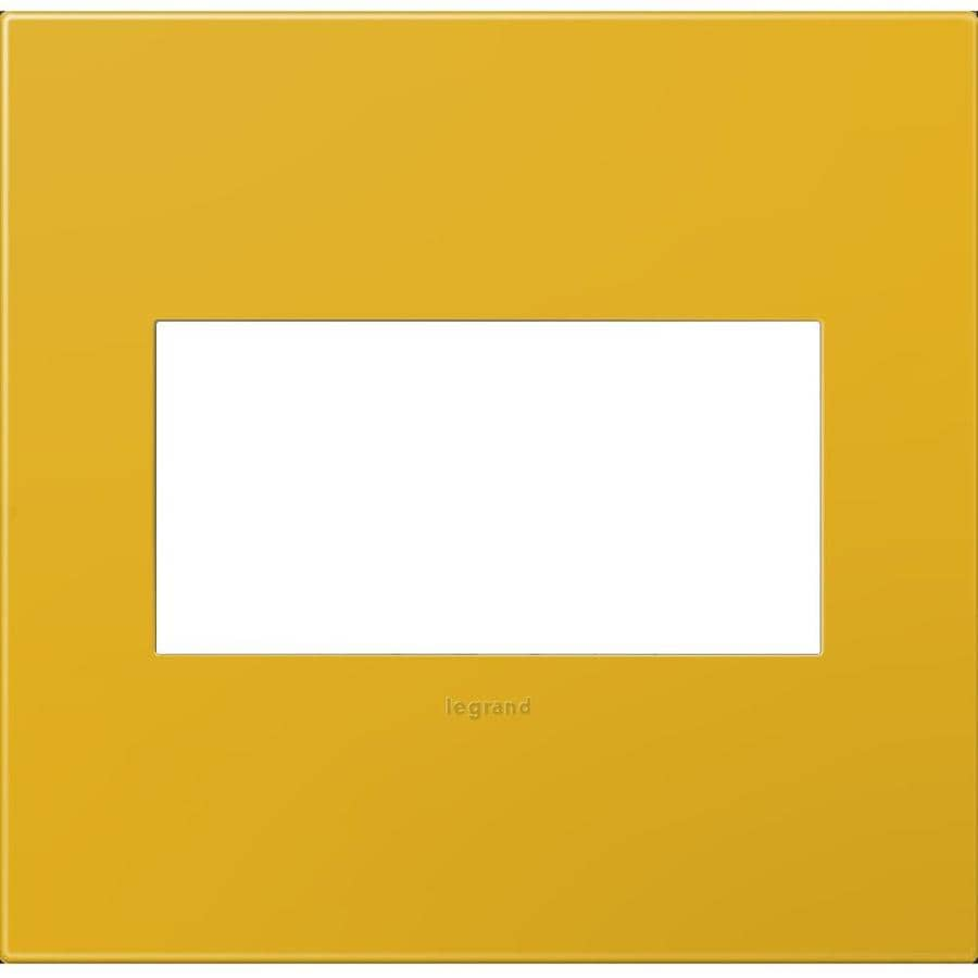 Legrand adorne 2-Gang Honey Double Square Wall Plate