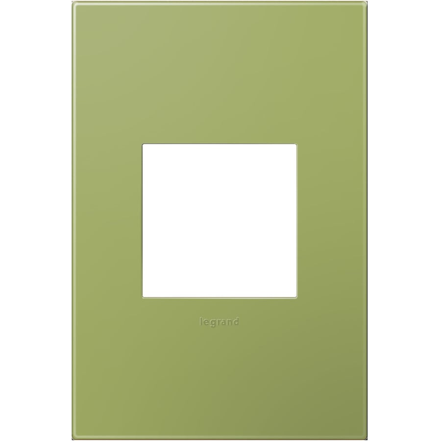 Legrand adorne 1-Gang Lichen Green Single Square Wall Plate