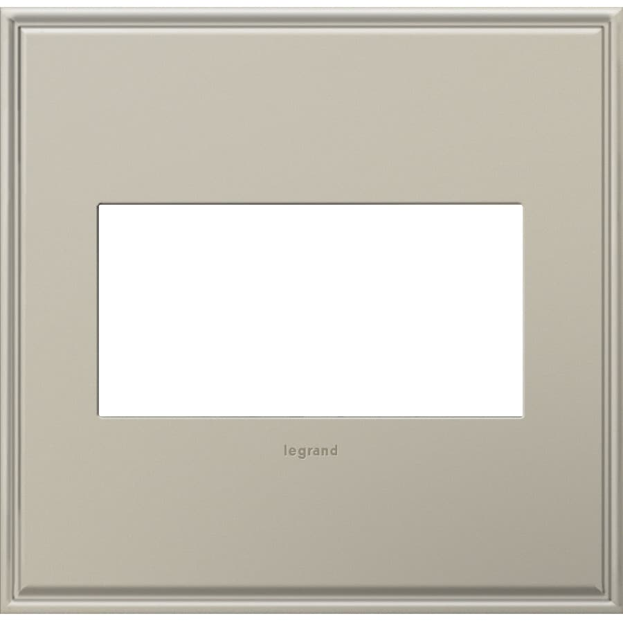 Legrand adorne 2-Gang Antique Nickel Double Square Wall Plate