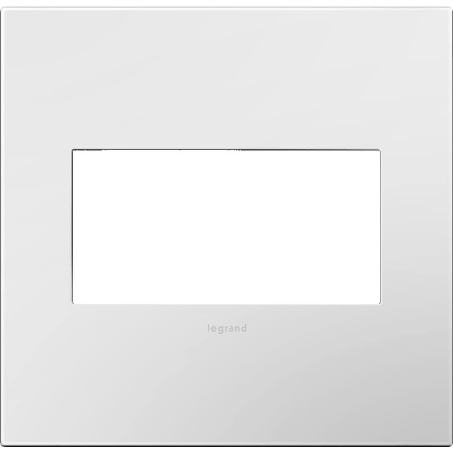 Legrand Adorne 2-Gang Gloss White Square Plastic Wall Plate