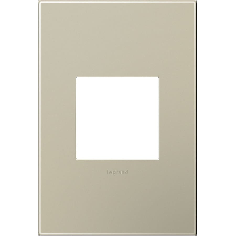 Legrand adorne 1-Gang Titanium Single Square Wall Plate