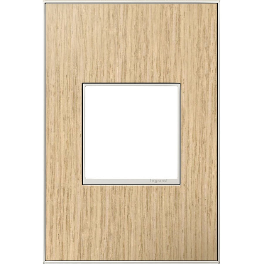Legrand adorne 1-Gang French Oak Single Square Wall Plate