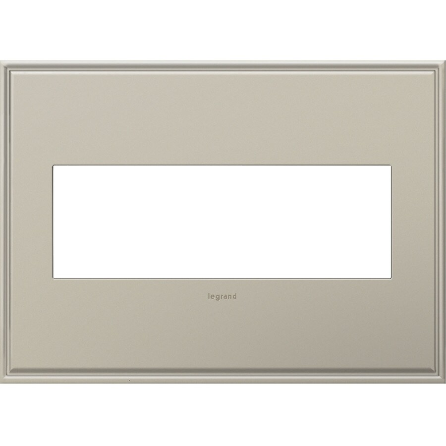Legrand adorne 3-Gang Antique Nickel Triple Square Wall Plate