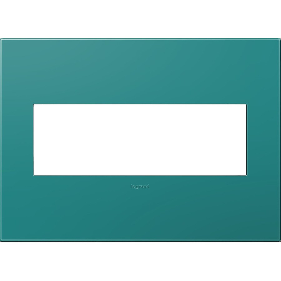 Legrand adorne 3-Gang Turquoise Triple Square Wall Plate