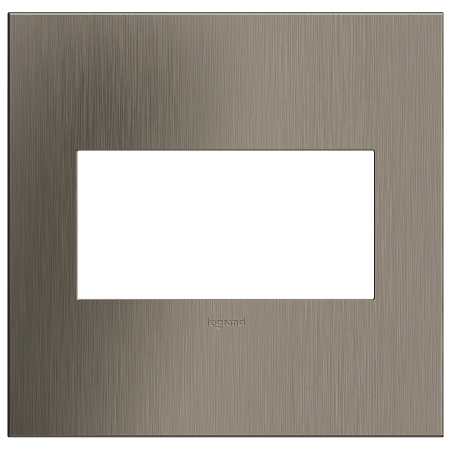 Legrand adorne 2-Gang Satin Nickel Double Square Wall Plate
